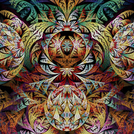 Glynnia Klein ESplits by Peggi Wolfe - Illustration Abstract & Patterns ( digital, gift, color, wolfepaw, jwildfire, glynnia, bright, pattern, abstract, décor, print, split, unique, esplit, fractal, illustration, unusual, elliptic, fun, klein )