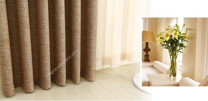 Rèm cửa đẹp hà nội một màu nâu vàng 14