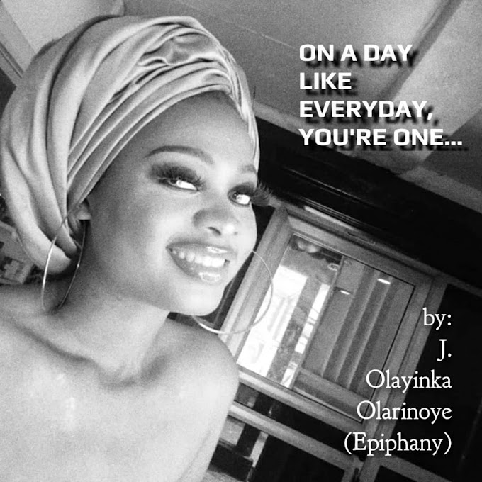 On a day like everyday, you're one…