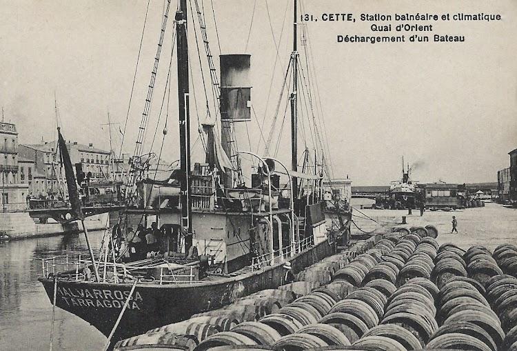 Vapor MALVARROSA. Cette. Ca. 1920. Colección de Chris Kleiss. Web Buques.org.jpg