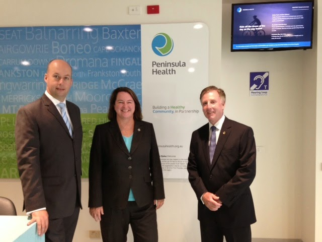With Gordon Rich Phillips and David Morris opening Frankston Hospital's $81 Million new Emergency Department Facility.