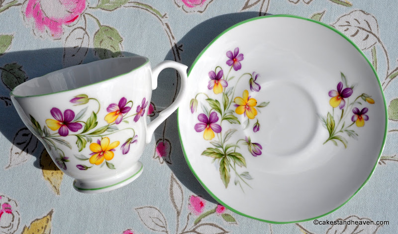 1960s English bone china Viola pattern