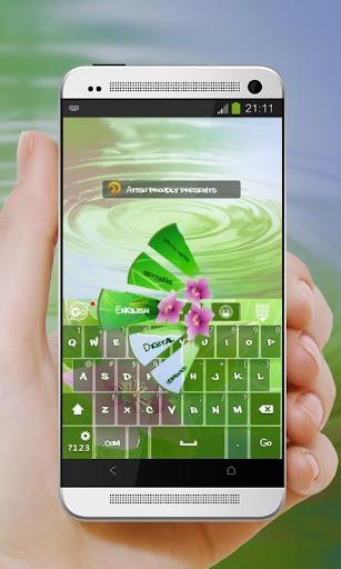 Purple Flowers GO Keyboard