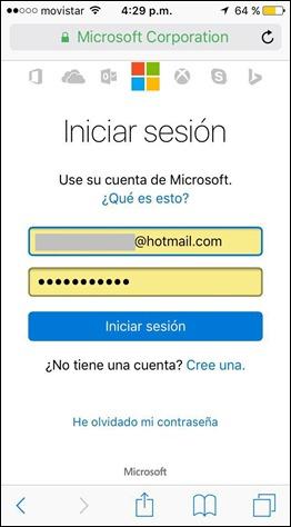 Iniciar sesión Hotmail desde celular - 1