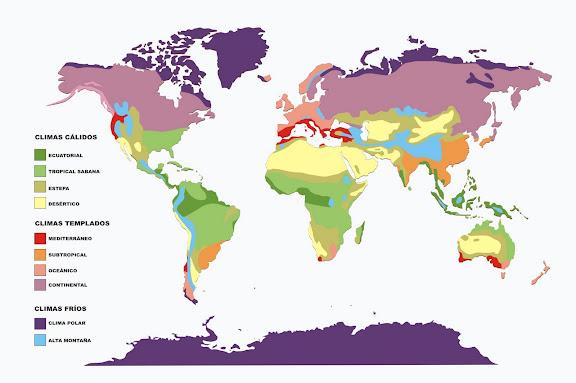 Mapa Mundi Climas Colorir E Aprender