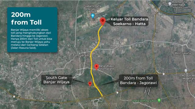 200 meter Banjar Wijaya ke Toll