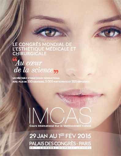 17e édition du Congrès Mondial Annuel IMCAS (International Master Course on Aging Skin) 2015 au Palais des congrès de Paris