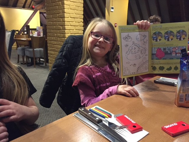 colouring in mr men activity book beefeater