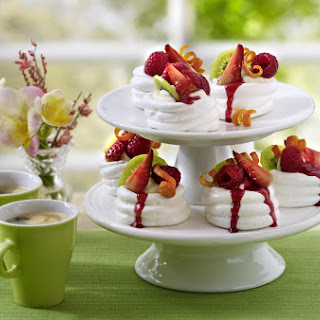 Fruit and Cream Pavlovas