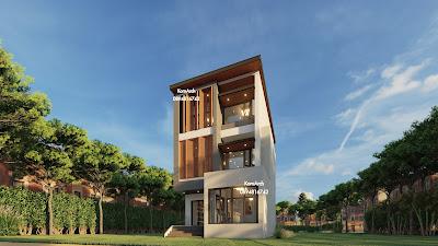 รับออกแบบแบบบ้าน3ชั้น,แบบโฮมออฟฟิศ3ชั้น(แบบบ้านหน้าแคบ)