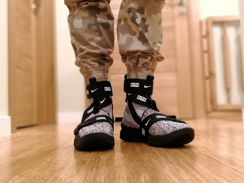 b966de17778 ... Nike LeBron 15 Kith Concrete OnFeet Look ...