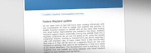 Fedora 20 avrà un'ottimo supporto per Wayland