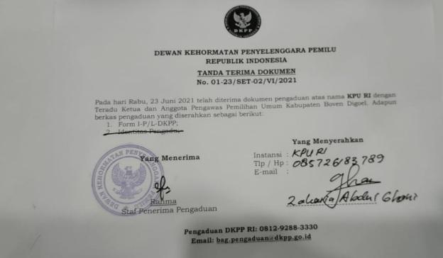 Tujuh Anggota KPU Adukan Anggota Bawaslu Boven Digul ke DKPP