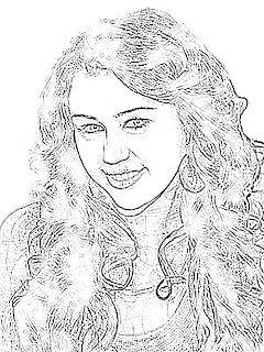 Miley Cyrus Sketch