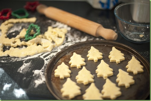 Baking homemade Christmas cookies