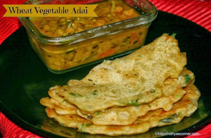 Godhumai Vegetable Adai
