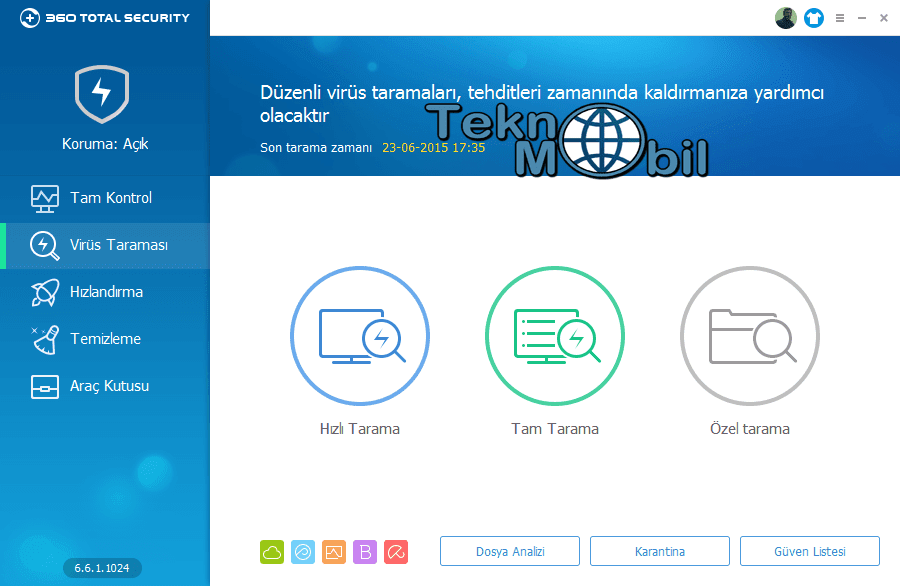 360 Total Security v7.0.0.1051 Türkçe