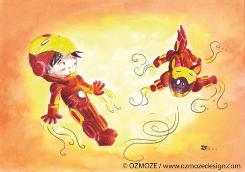 Iron Man and Dog