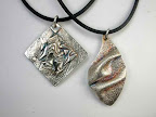 2016.07.23: Reversible Draped Silver Pendan (or earrings) 1 to 4 pm at The Artsmiths of Pittsburgh (Mt. Lebanon)