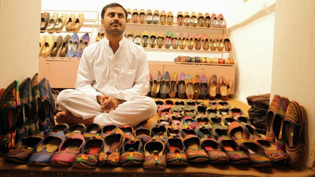 At a Jodhpuri shoe shop in Jodhpur