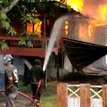 Diduga Arus Pendek, Rumah Warga Tomodi Ludes Terbakar