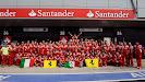 Party at Ferrari after winning 2011 British F1 GP