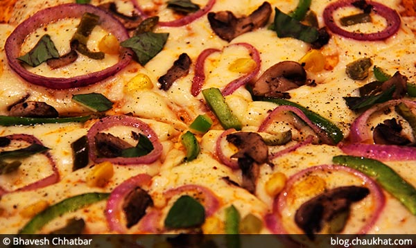 Spicy House Special Pizza served at 212 All Day Cafe & Bar at Phoenix Marketcity in Pune