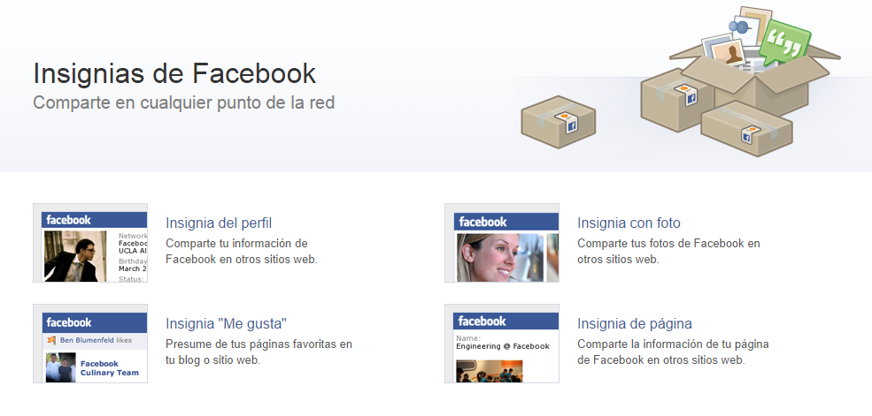 Insignias de Facebook