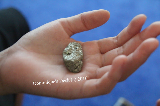 A mineral that the kids examined