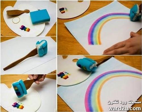 تقنيات بسيطه لعمل لوحات رائعه
