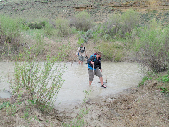 Diane and Alan crossing Nine Mile Creek