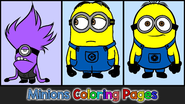 Minions Coloring Pages For Kids  Minions Coloring Games  Minions Coloring  Book Part   Youtube