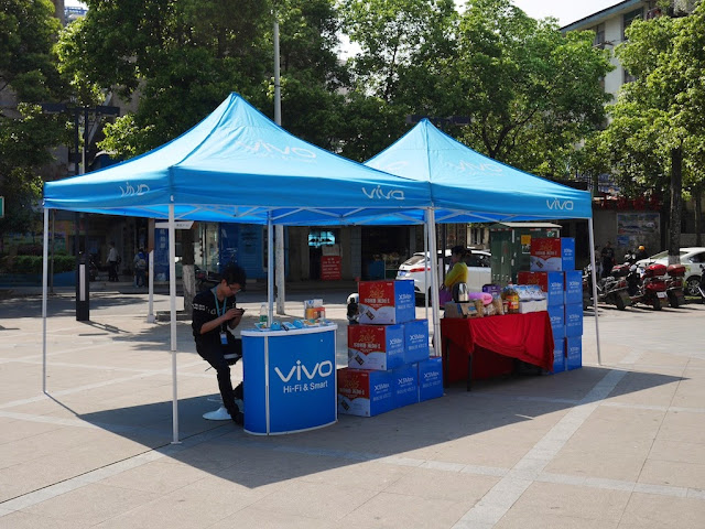 An outdoor promotion for Vivo in Hengyang, Hunan