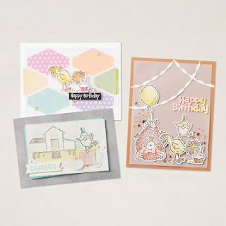 Stampin up Hey Birthday Chick