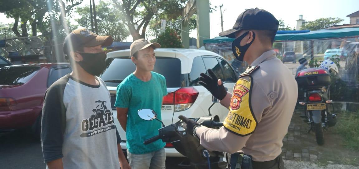 Polsek Tanah Sereal Gencar Melakukan Kegiatan Ops Yustisi Mandiri Gaktibplin Protokol Kesehatan