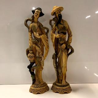 East Asian Figurine Pair
