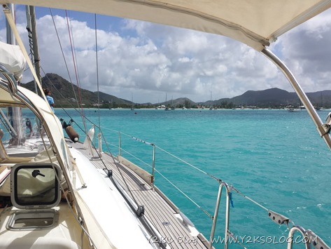 Arriviamo a Jolly Harbour - Antigua