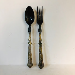 Silver & Horn Salad Tongs