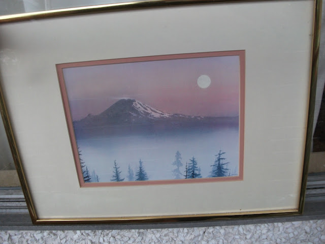 "Signed Jeane Duffey print ""The Mountain"""