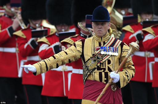 Trooping the Colour is a military tradition based on parades that would usually take place before battle in which colours - or flags - were paraded so that troops could recognise them on the field.jpg