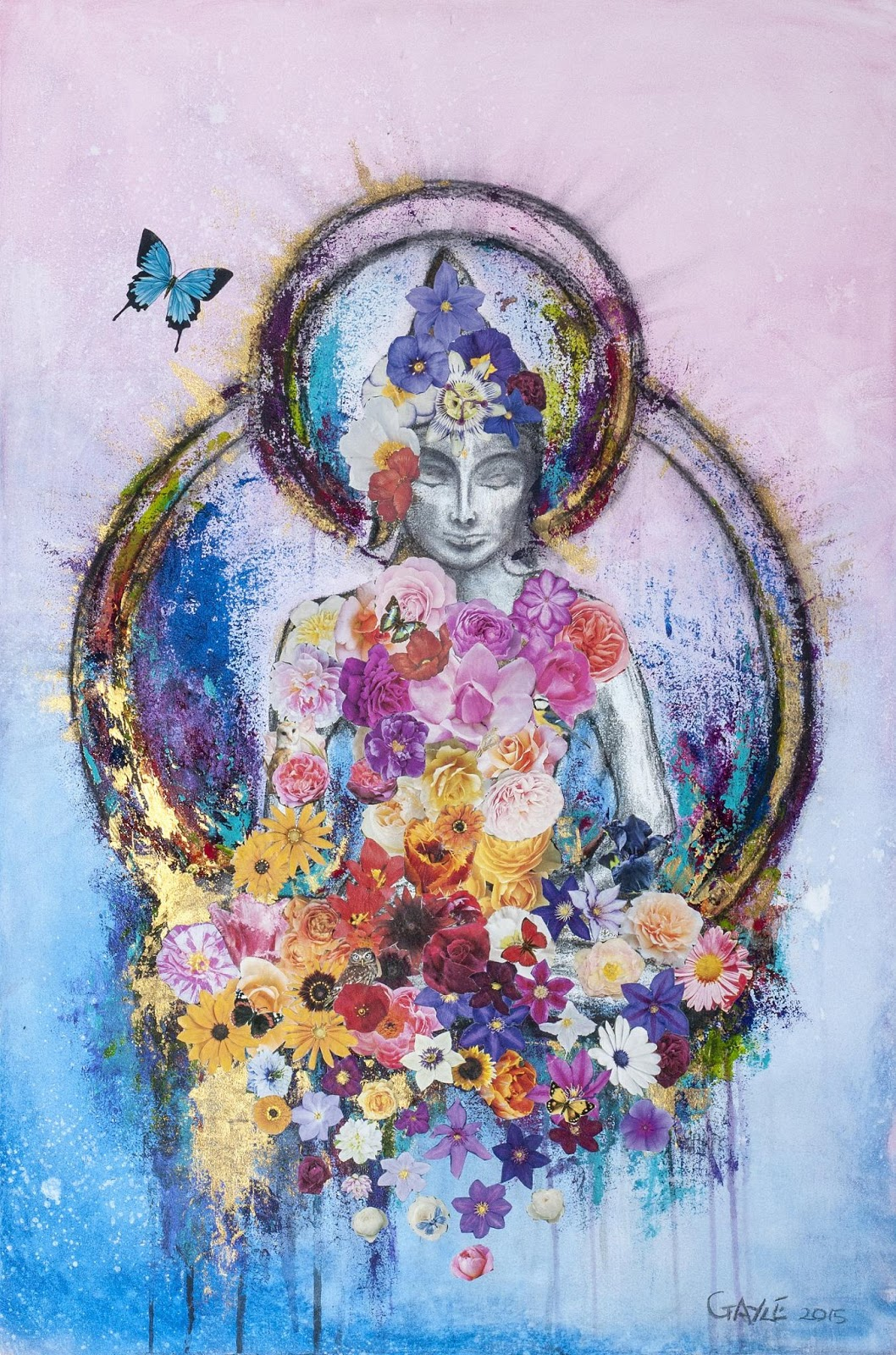 Buddha and The Butterfly 2015 by Suzanne Gayle
