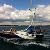 14 August 2011 - During Poole Lifeboat Station's Open Day, the ALB escorted a dismasted yacht towards Poole Harbour, before attaching a tow and taking it to Poole Quay Boat Haven. (Photo: Dave Riley)