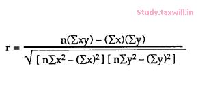 formula of correlation