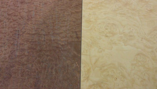 The two veneered panels for the next project
