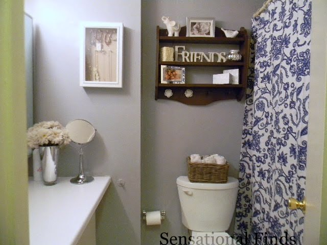 Sensational finds decorating our apartment bathroom for Apartment bathroom ideas