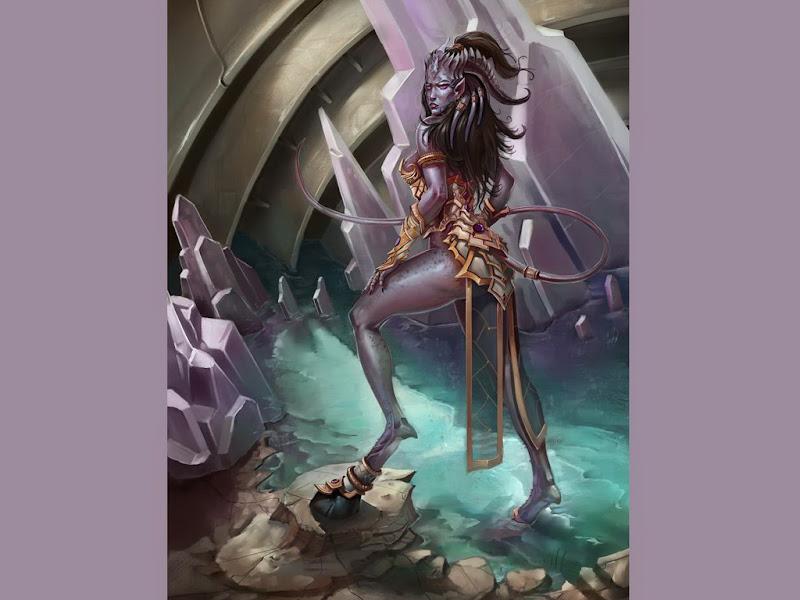 Black Demoness Fantasy Girl, Demonesses