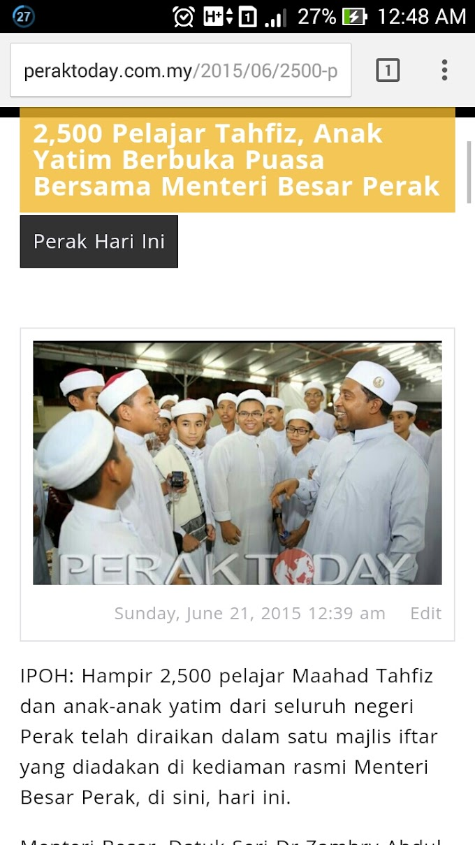 Assignment Terakhir @ Perak Today