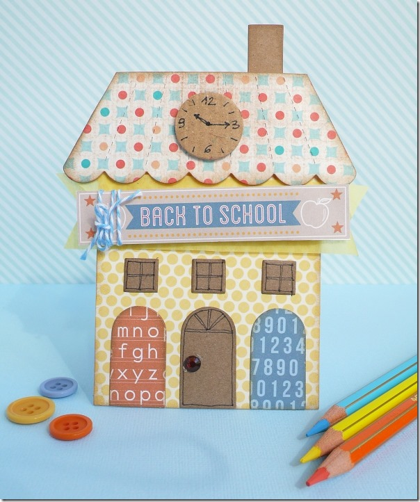 cafe creativo - sizzix big shot - card back to school - house (1)