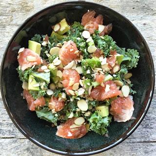 Kale, Grapefruit & Avocado Salad.