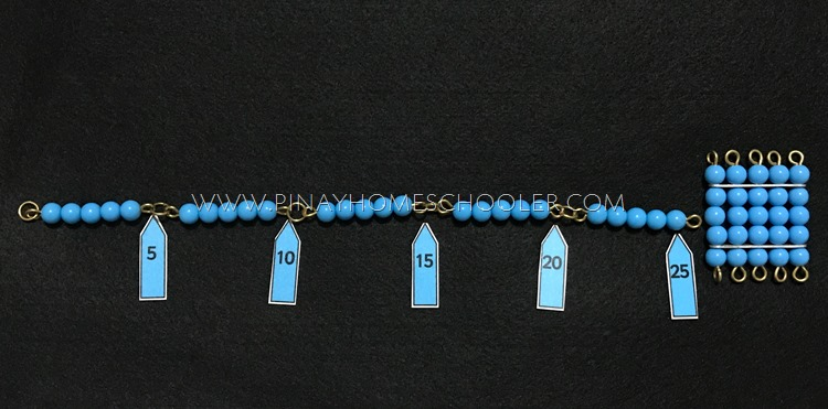 Montessori Bead Chains with Labels